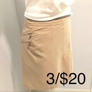 Izod Golf skirt/skorts ladies Tan sz 12 3/$20